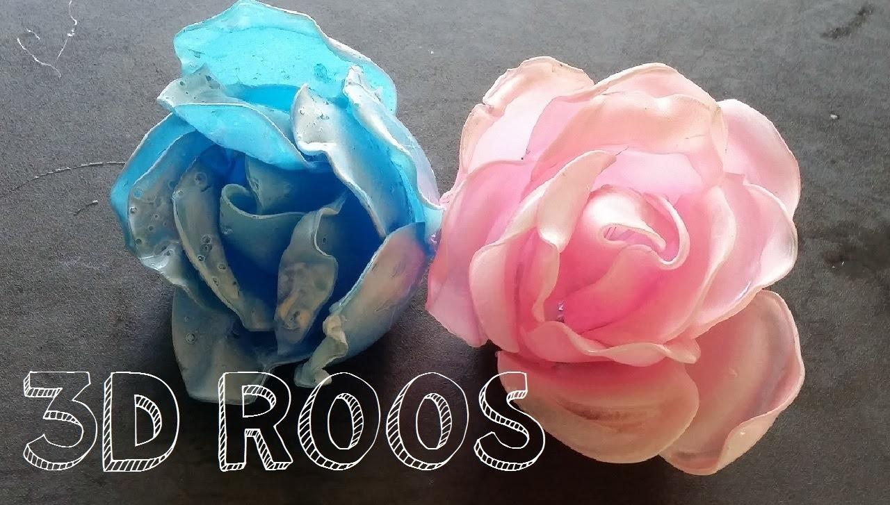Diy Zelf Een 3D ROOS Maken.  Van Lepels