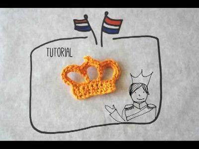 Tutorial: Gehaakt kroontje voor K(r)oning(inne)(s)dag