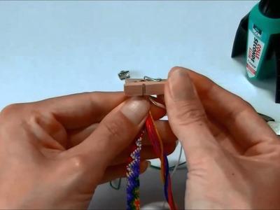 Armbandje afmaken met eindklemmen
