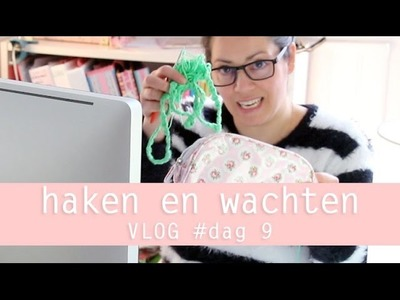 Vloggen loopt uit de hand, over haken en wachten 100 days of yarn bombing day 9