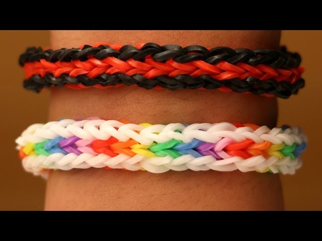Rainbow Loom Nederlands - Caterpillar Armband || Loom bands, rainbow loom, tutorial, how to