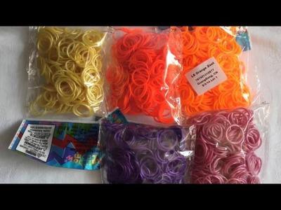 Rainbow loom Nederlands: unboxing Amerika bestelling, review zakjes