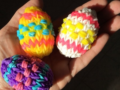 Rainbow Loom Nederlands, 3d Paasei, grotere versie 3d easter egg, bigger version