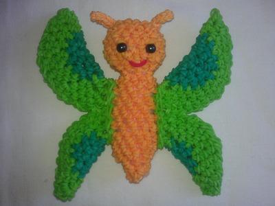 Rainbow loom Nederlands: vlinder amigurumi. loomigurumi butterfly. i.s.m. Renata Bruin