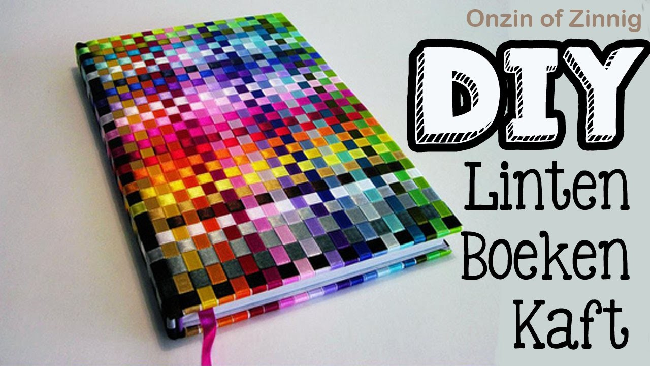 Diy Ribbon Book Cover ~ Diy ribbon book cover linten boeken kaft craftmama