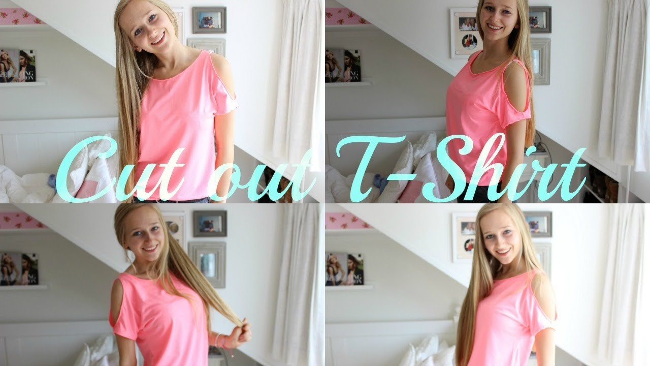 DIY Cut out shoulder tee ♥ MADE BY Noelle