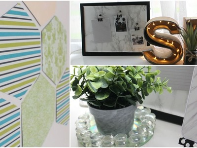 DIY Kamer Decoratie : Marble Print Prikbord , Letter Verlichting & Meer | Sabrina Putri