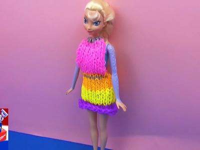 Prinses Elsa krijgt een jurk van loombandjes van Eva! Rainbow Loom Dress loombandjes