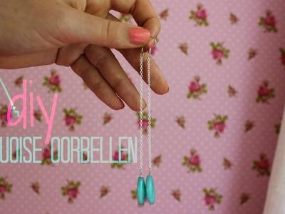 DIY Turquoise oorbellen ♥ MADEBYNoelle