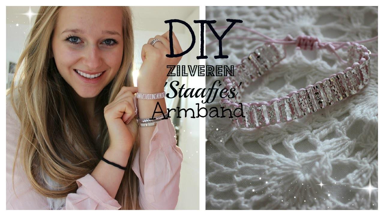 DIY zilveren 'staafjes' armband ♥ MADEBYNoelle