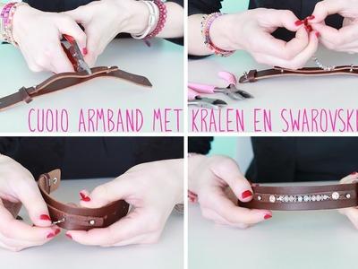 DIY: Hoe rijg je kralen aan een cuoio armband?