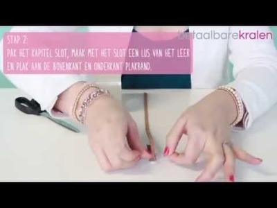 DIY: Hoe maak je een armband met kapitel slot en macramé draad?
