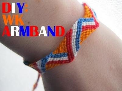DIY: WK of Koningsdag armbandje - Nederlands armbandje | Friendship bracelet tutorial