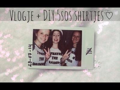 Vlogje met Roxy & Joëlla + DIY 5sos shirt | Mirte & Cathy