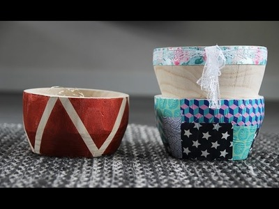 DIY bijzondere schaal maken 3x - Cadeaus maken!