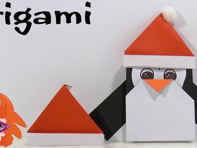 Origami kerstmuts - DIY Christmas crafts