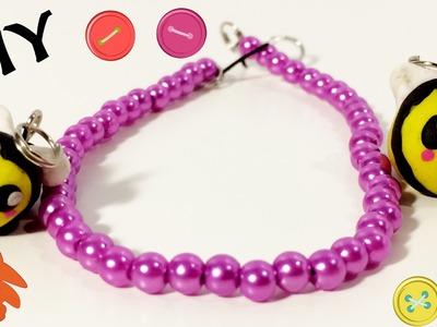 DIY charm bracelet -  Bijen bedeltjes kleien met Fimo klei