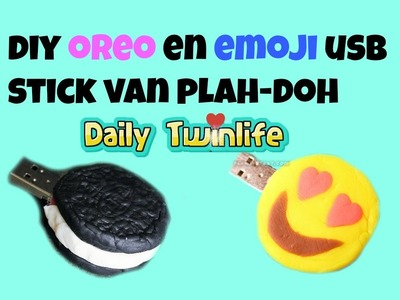 DIY Oreo en Emoji USB Stick van Play-Doh