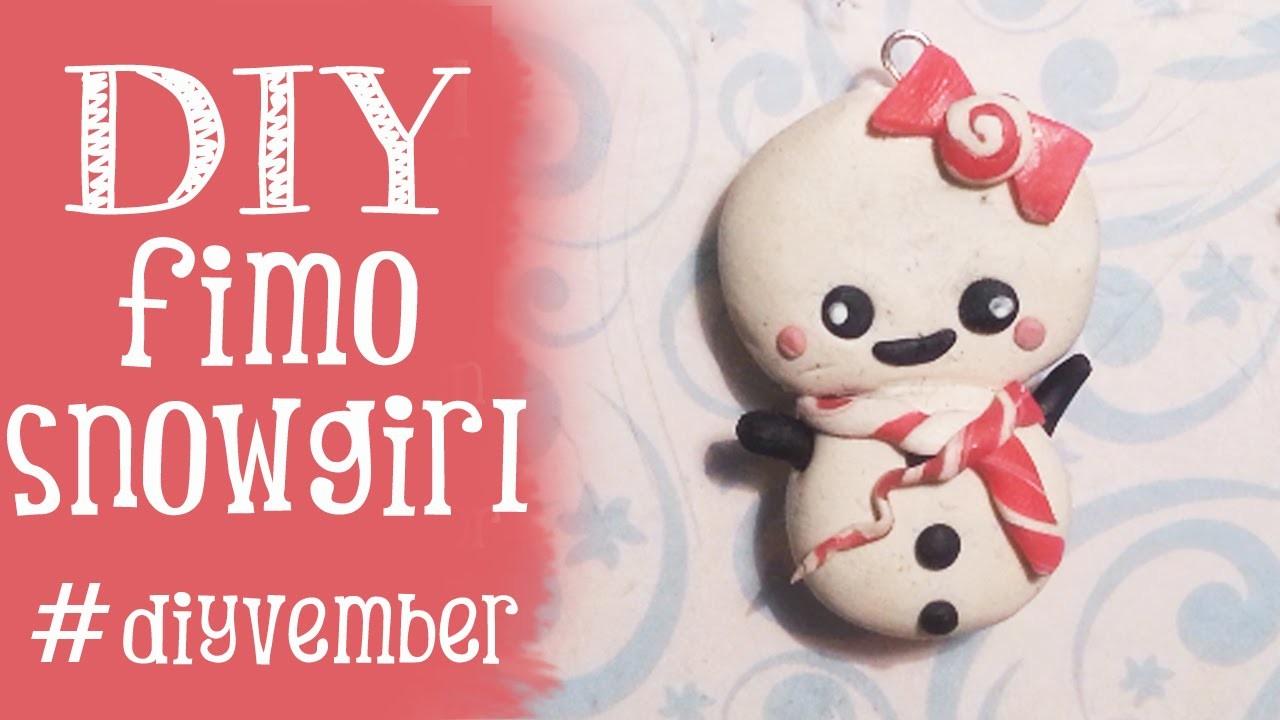 DIY Fimo Cutie Snowgirl DAG 20 Diyvember Zullen wij een sneeuwpop maken?