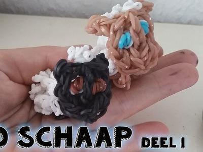 Rainbow Loom Nederlands 3D Schaap Maken Deel 1
