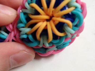 """Uitleg """"Kaleidoscoop Sleutelhanger"""" van Rainbow Loom elastiekjes"""