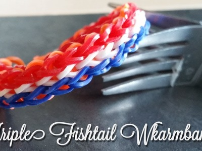 Rainbow Loom Wk Armband de Triple Single op een vork, Zonder Loom! Nederlands