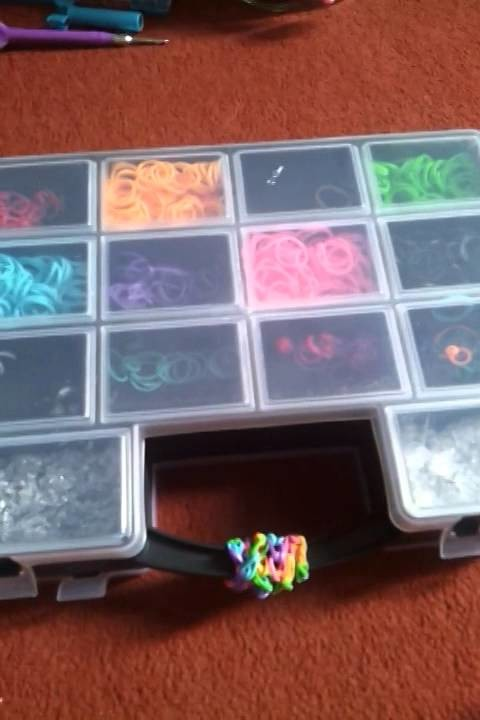 Al mijn Rainbow loom spullen, Rainbow loom