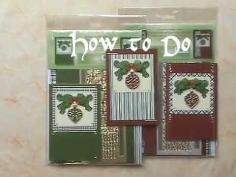 Kerstbal sticker kit. Christmas ball card kit