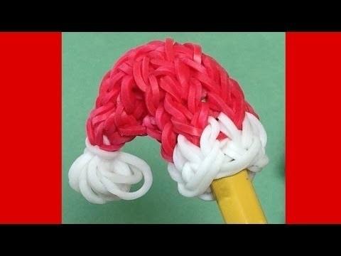 Loom Bands Nederlands Kerstmuts Monstertail. Rainbow Loom Kerstmis