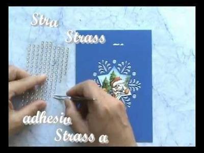 Kerst kaart Sneeuwvlok. Christmas card snowflake