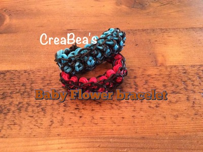 Rainbow loom Nederlands ❤️ Baby Flower armband (niet rondom)
