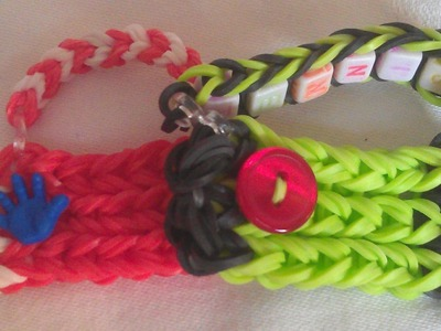 Rainbow loom Nederlands: sport tas (original design) charm