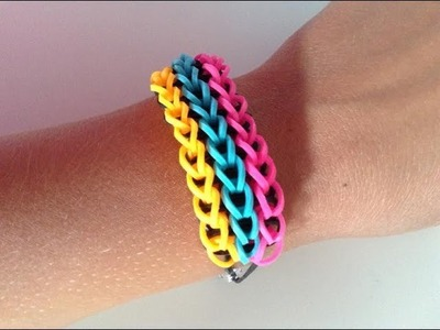 Rainbow loom Nederlands, triple single, armband