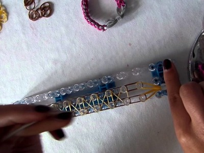 Rainbow loom band it tutorial strik armband bow bracelet NL nederlands