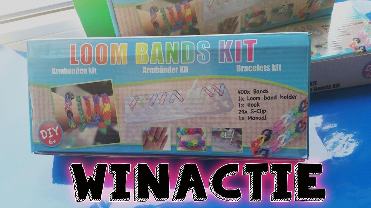 GESLOTEN!!! ACTION diy Rainbow LOOM BANDS KIT Review en WINACTIE Nederlands