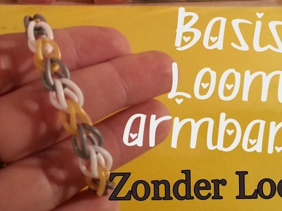 Hoe maak je een Basis Rainbow Loom Armband Nederlands Zonder Loom