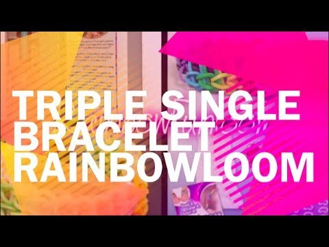 Koolloomers loomen   Triple Single Bracelet Rainbow Loom Tutorial Nederlands