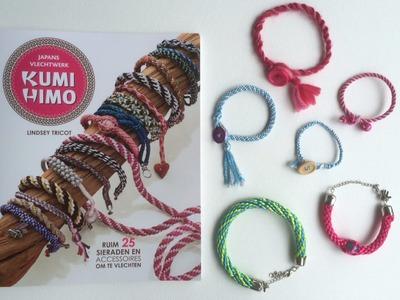 Kumihimo boek: Leer armbandjes, oorbellen en kettingen vlechten