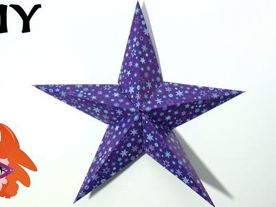 Origami ster vouwen voor kerst