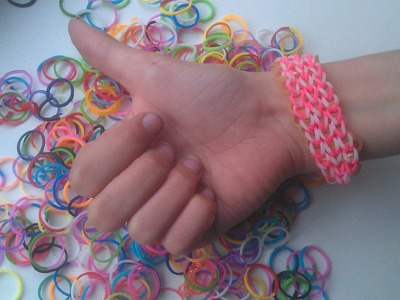 Rainbow loom, nederlands triple single armband