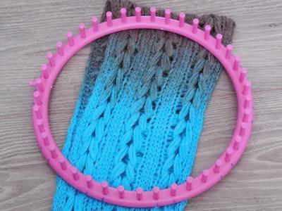 Sjaal maken op een breiring met vlecht