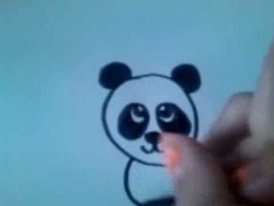 Cartoon panda 'How to draw' #3