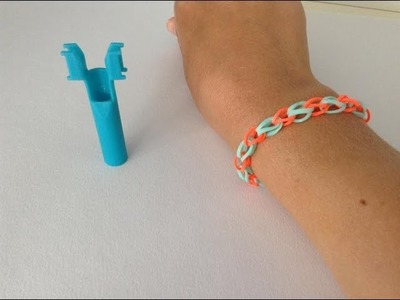 Rainbow loom Nederlands, basis armbandje, op de mini loom