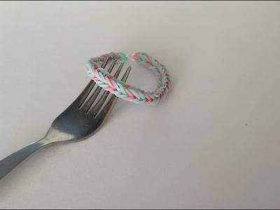 Rainbow loom Nederlands, Visgraat armband, op een vork