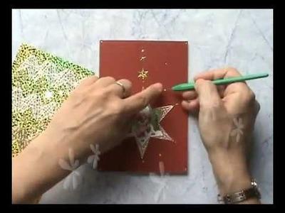 Kerstkaart Ster. Christmas card Star