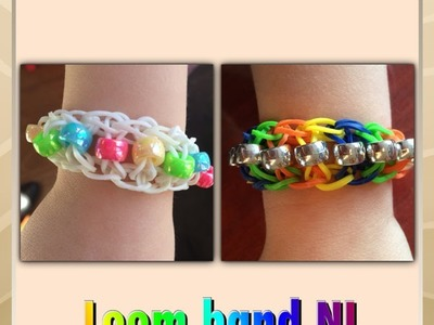 Rainbow Loom Nederlands ladder armband maken met kralen