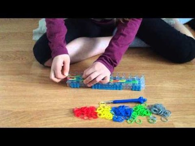 Triple link chain armband rainbow loom