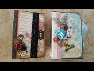 2 x scrapbook junk-journals vintage roses  & butterfly kisses
