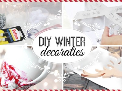DIY WINTER DECORATIES | KERST EDITIE ❄️