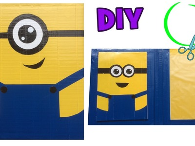 DIY crafts Minion - Maak je eigen map van karton en duct tape
